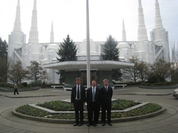 Daniel and companions at Portland Temple