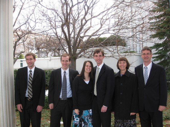 Family photograph at the Bountiful Temple