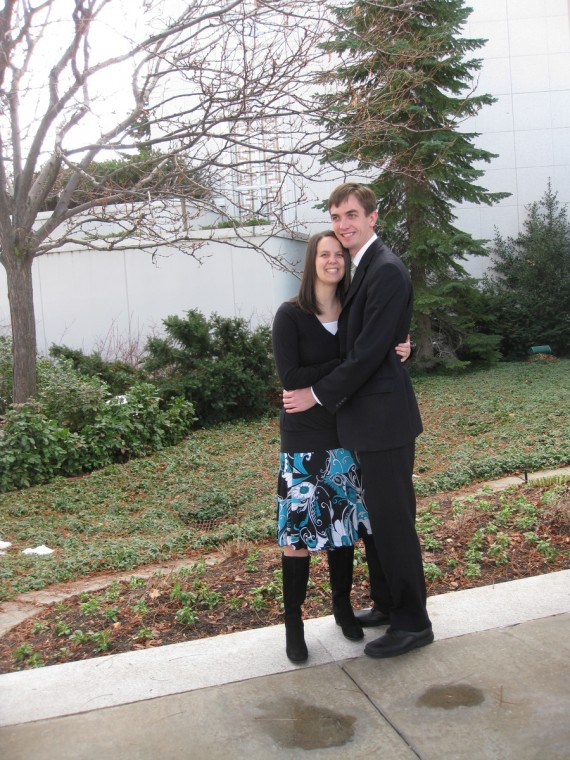 Rachel and Jake together at the Bountiful Temple