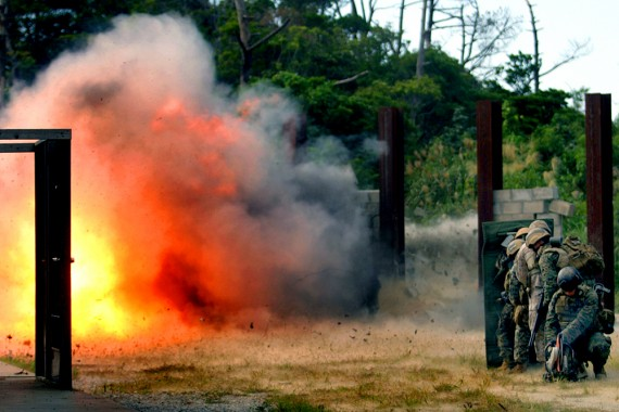 A blast during the Dynamic Entry course