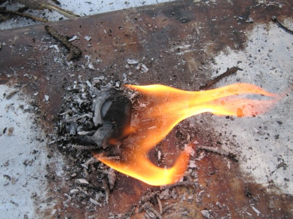 Fire starter is still burning