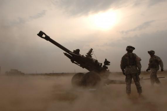 Firing M119 Howitzer
