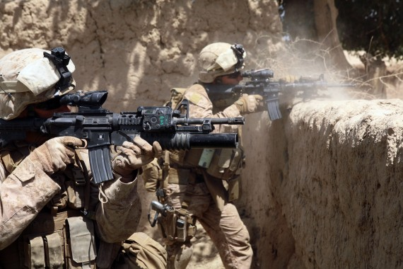 Operation in the Helmund province in Afghanistan