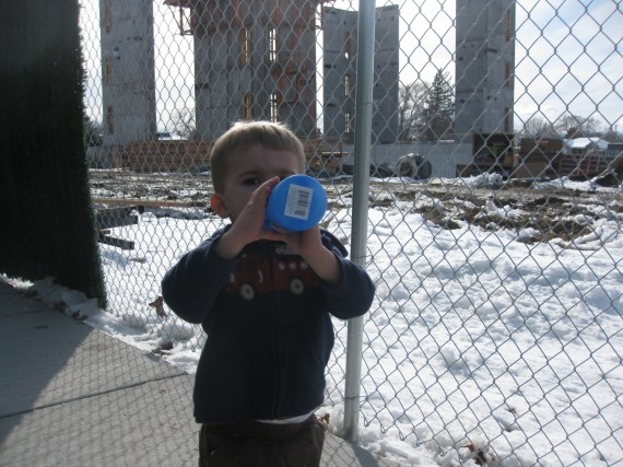 Bryson at the Brigham City Temple construction site