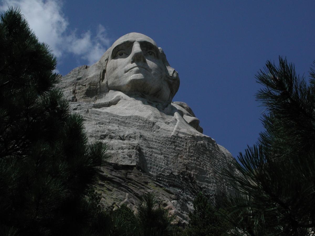 Washington at Mount Rushmore