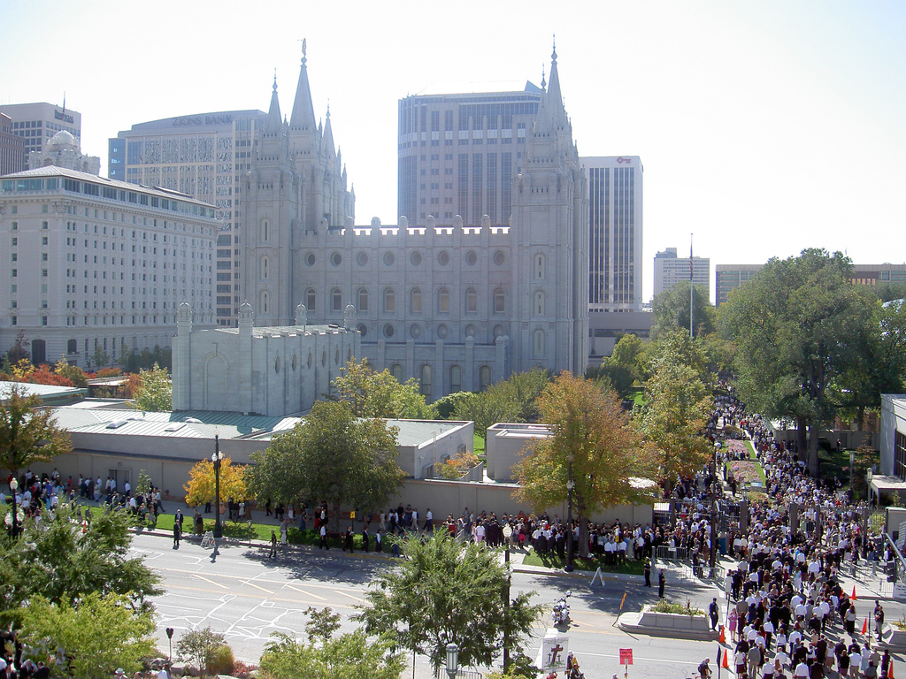 Temple Square at General Conference