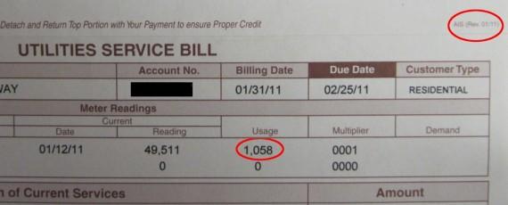 Utilities Service Bill