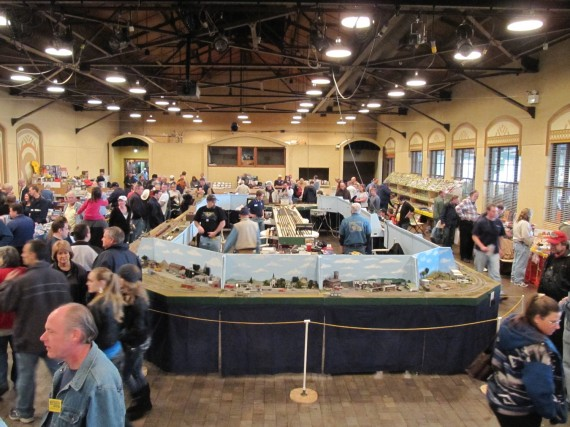 At the model railroad festival