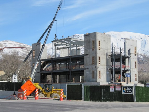 Brigham City temple floor construction