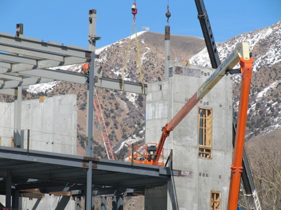 Brigham City temple girder closeup