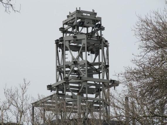 Brigham City Temple Spire girders