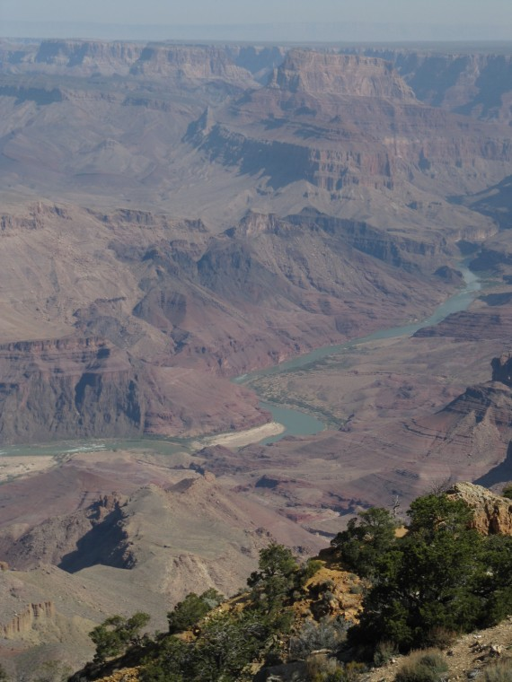 Colorado River from the South Rim of the The Grand Canyon