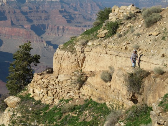 Jill on the Bright Angel Trail