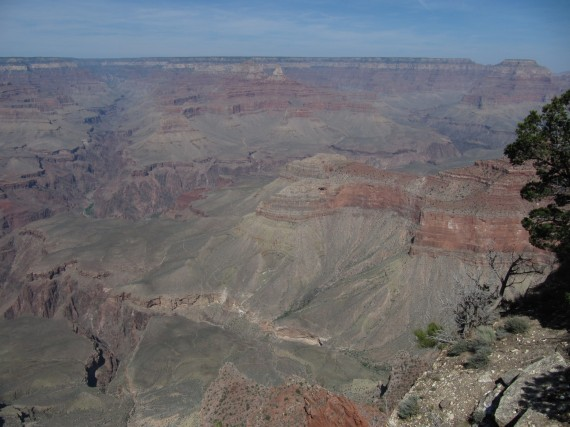 Grand Canyon Vista with Phantom Ranch and Kaibab_Bridge