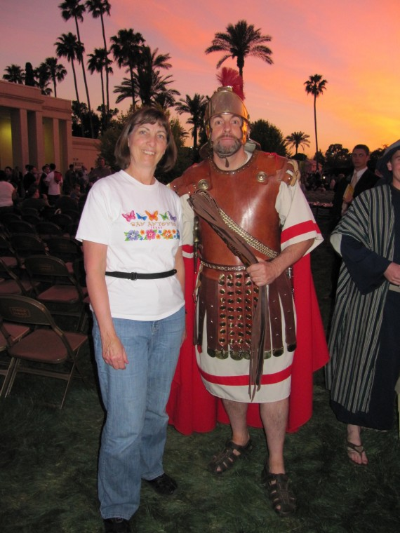 Mesa Easter Pageant Jill with a Roman soldier