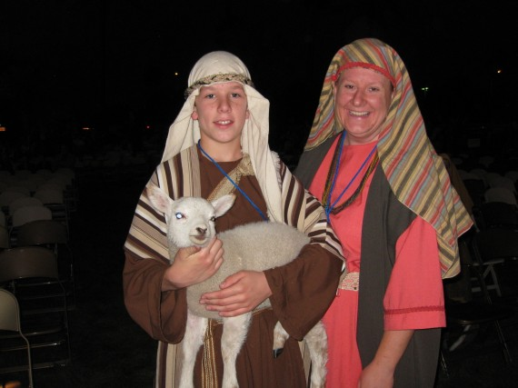 Mesa Easter Pageant father and son shepherds