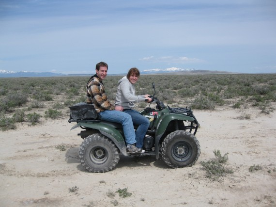 Target practice atv Megan and Paul