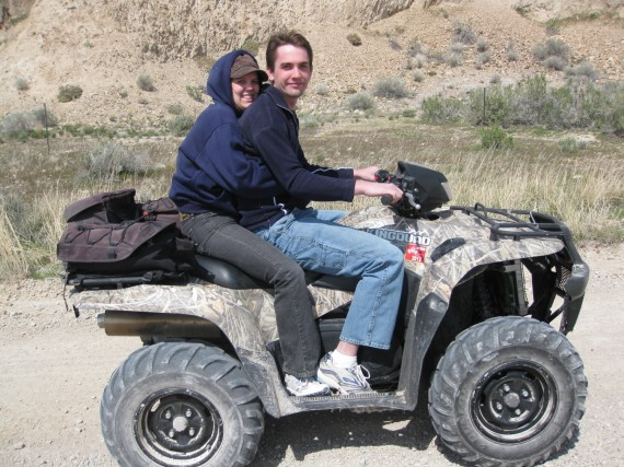 Target practice atv Rachel and Jake