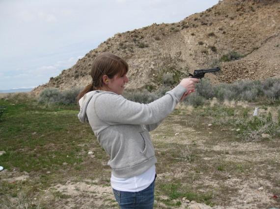 Target practice pistol Megan