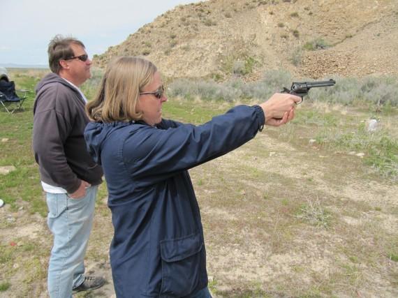 Target practice pistol Susan