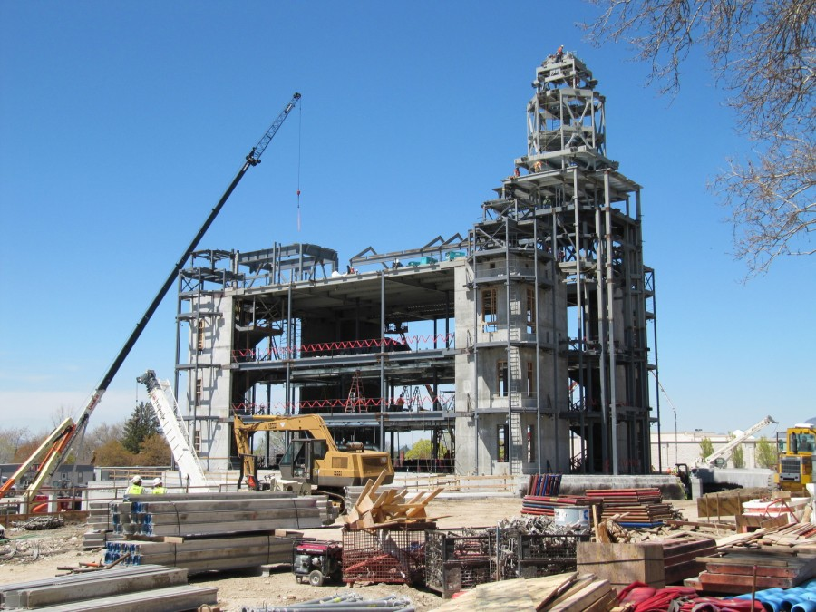 Brigham City Temple construction