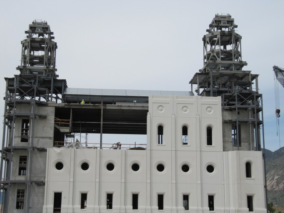 Brigham City Temple three upper panels
