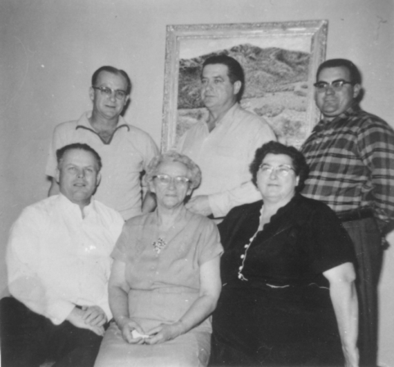 Edith with her mother and brothers