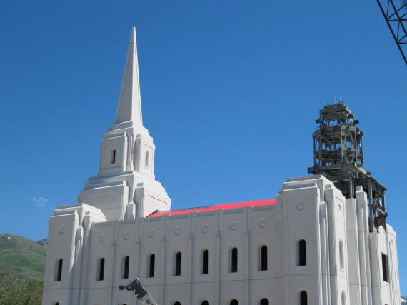 Brigham City Temple Roof closeup