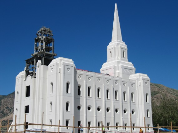 Brigham City Temple unfinished spire
