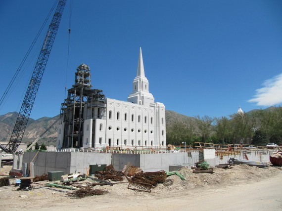 Brigham City Utah Temple construction