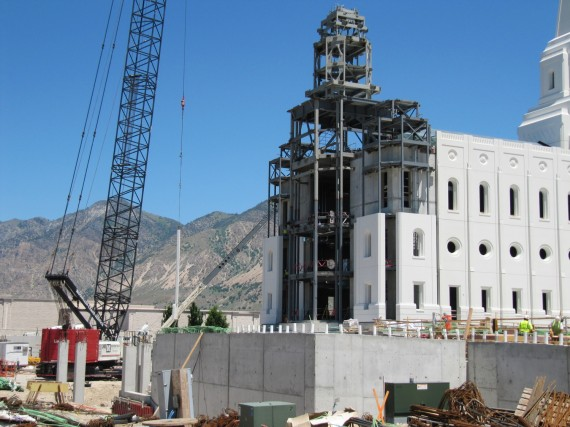 Brigham City Utah Temple construction closeup