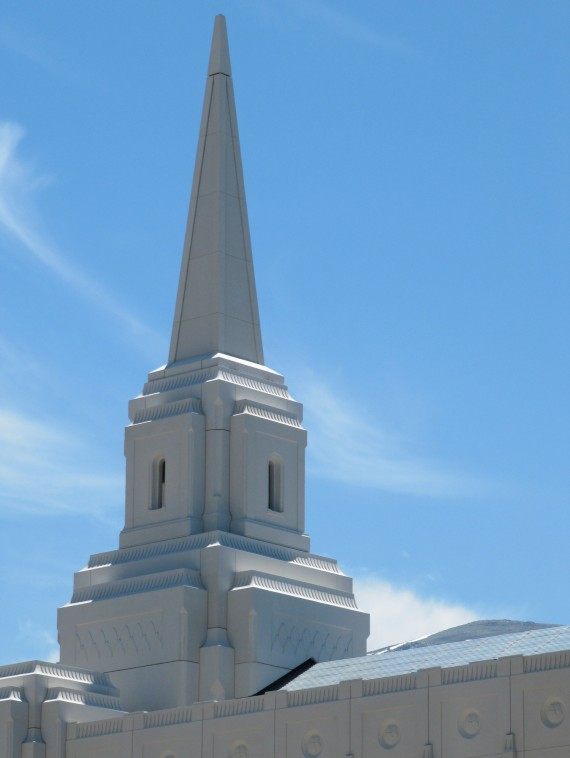 Brigham City Utah Temple east spire