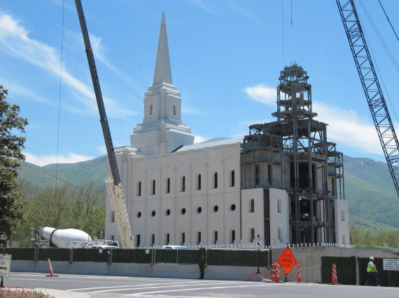 Brigham City Utah Temple work on the west side