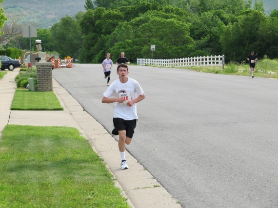 Kaysville Utah South Stake 5K leader