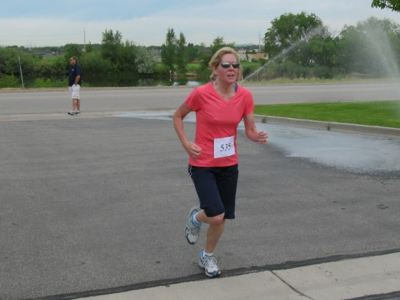 Kaysville Utah South Stake 5K runner finishing