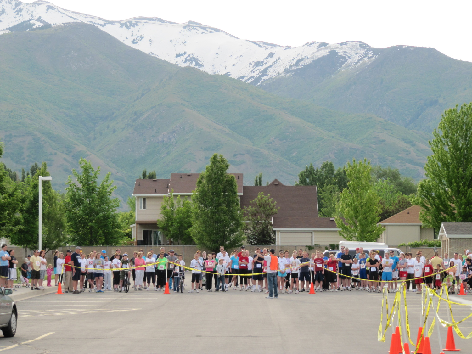 Kaysville Utah South Stake 5K start