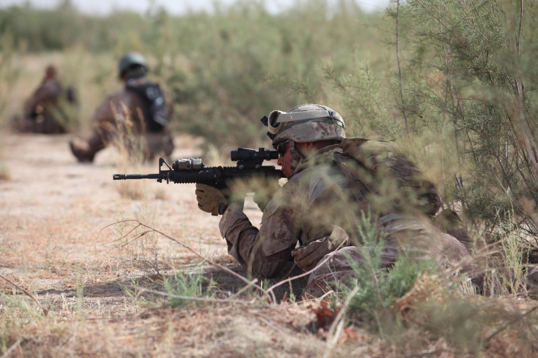 Patrol near Combat Outpost Castle, Helmand province, Afghanistan