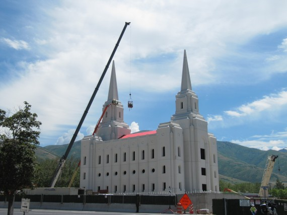 Brigham City Utah Temple work on spires