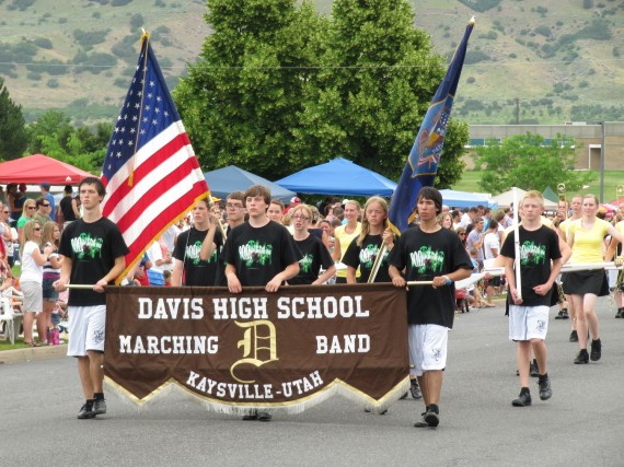 Kaysville July 4th Parade Davis High School Marching Band