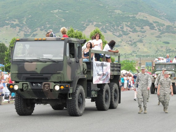 Kaysville July 4th Parade Desert Storm Veterans