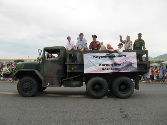 Kaysville July 4th Parade Korean War Veterans