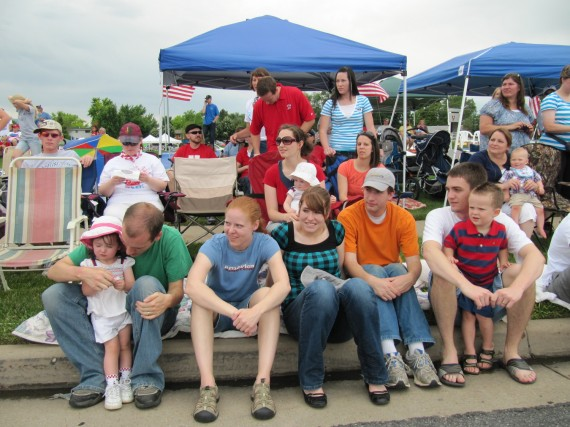 Kaysville July 4th Parade family
