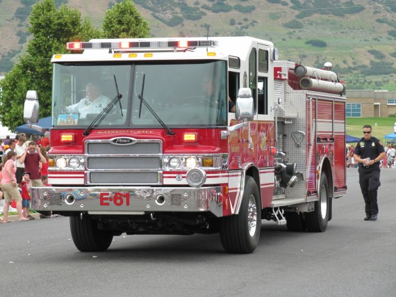 Kaysville July 4th Parade fire engine