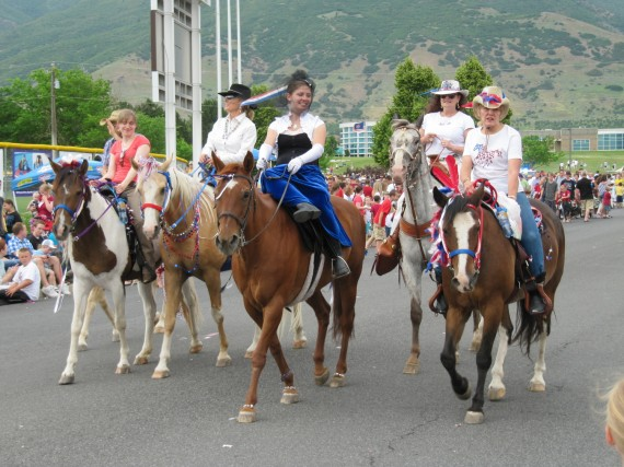 Kaysville July 4th Parade horses