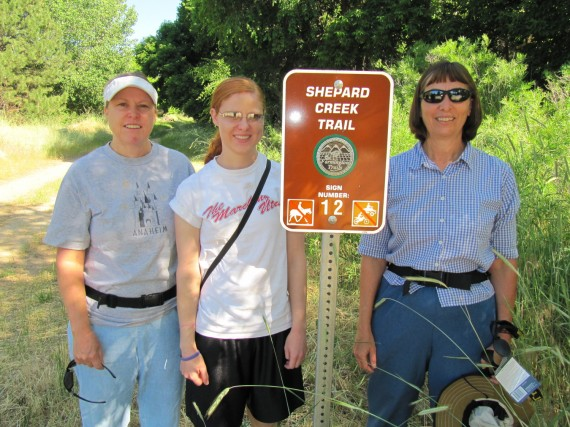 Shepard Creek Trail - Susan,  Shauna, and Jill