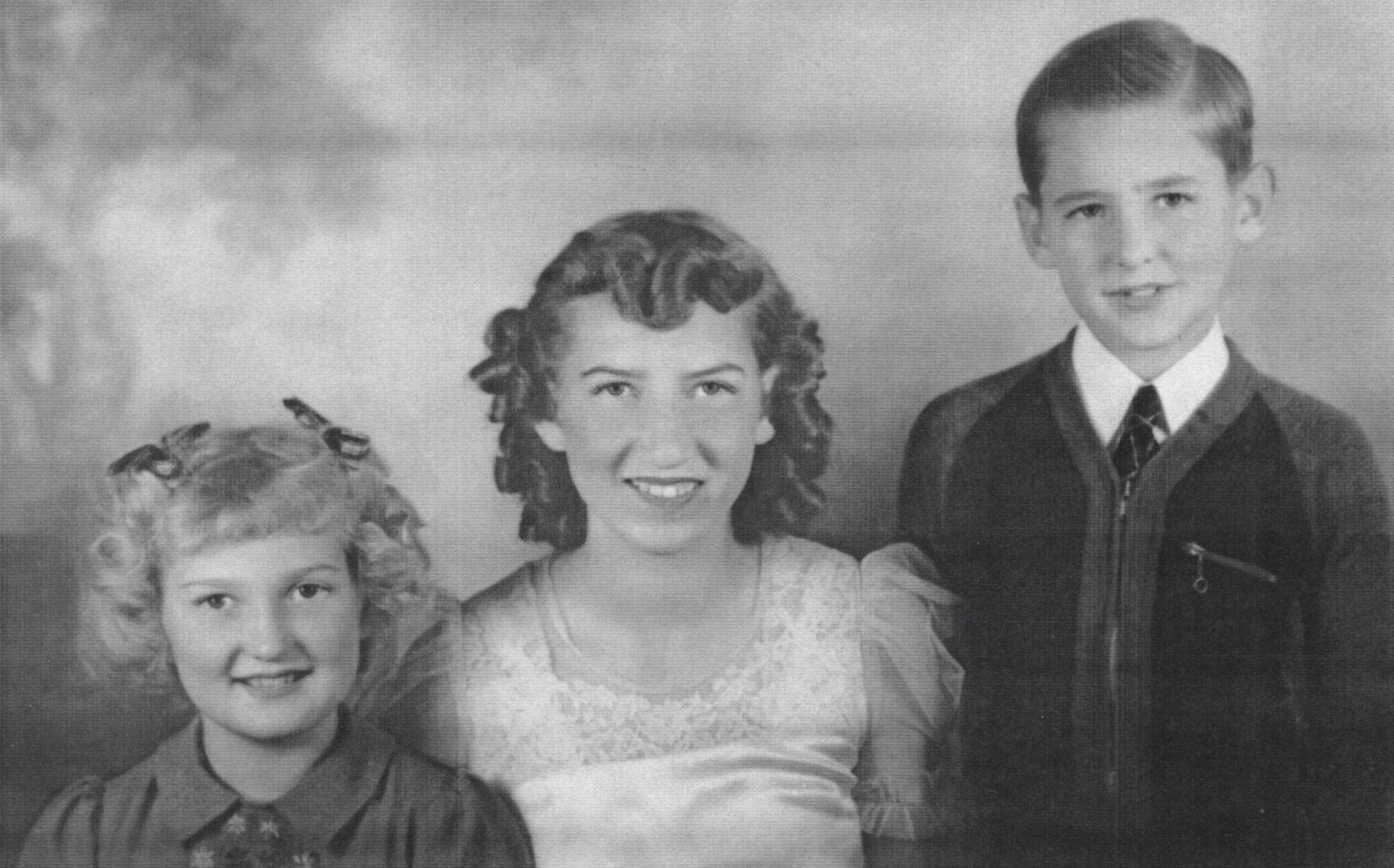 Edith's children: Glenna, Dolores, and Robert