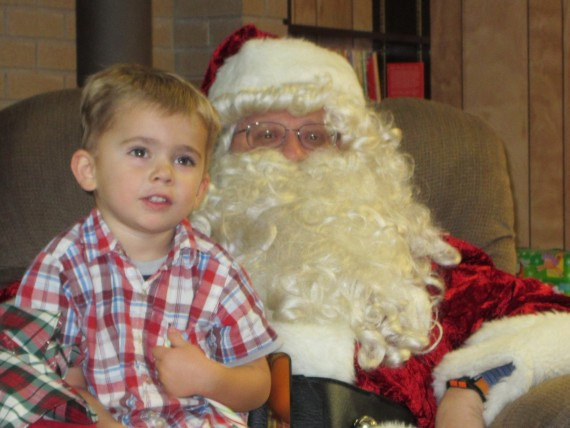 Bryson with Father Christmas