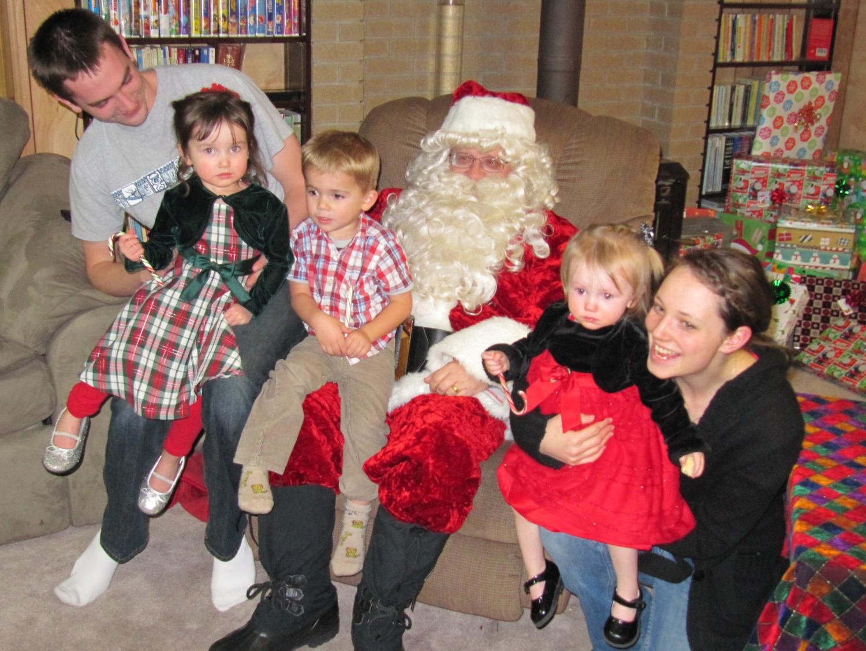 Father Christmas visiting