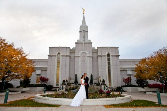 Jake and Rachel at the Bountiful Temple