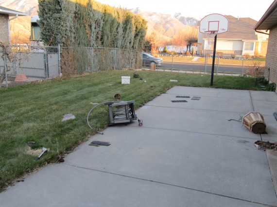Kaysville windstorm backyard
